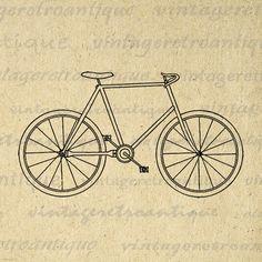 Digital Graphic Antique Bicycle Image Bike by VintageRetroAntique