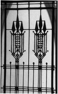 A Frank Lloyd Wright iron motif. It would be lovely to carry this (or something like it) into one or other design elements of the wedding: the invitations, the cake...