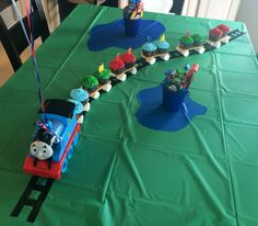Thomas the Train, Cupcakes for Layton's 3rd birthday!