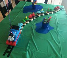 Thomas the Train, Cupcakes for Layton's 3rd birthday!