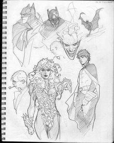 Sketches by Adam Hughes Comic Book Artists, Comic Artist, Comic Books Art, Sketchbook Inspiration, Art Sketchbook, Reference Manga, Adam Hughes, Batman Art, Illustrators