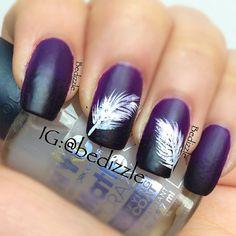 feather #nail #nails #nailart