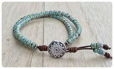 Turquoise Beaded Bracelet, Beaded Wrap Wrap, Seed Bead Bracelet, Wrap Bracelets for Women, Boho Wrap, Bracelet, Beaded Wrap Bracelet, Boho