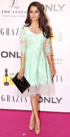 Shraddha Kapoor at the Grazia Young Fashion Awards 2014. #Style #Bollywood #Fashion #Beauty
