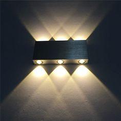 Design 18W LED Wandleuchte Wandlampe Flurlampe Wandstrahler Warmweiß Alu. DHL