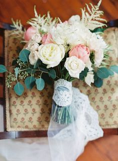 to incorporate your mother in your wedding try wrapping your bouquet in your mother's veil