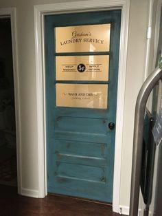Laundry Room Door - change to 'Self Serve'
