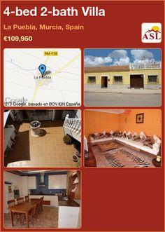 4-bed 2-bath Villa in La Puebla, Murcia, Spain ►€109,950 #PropertyForSaleInSpain