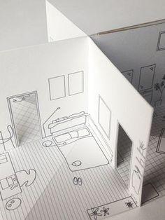 Mini-Pop-up-Buch 2 x 2  Das süßeste kleine Handgeschöpftes Papier-Haus. Die vorderen und hinteren Erhebungen des Hauses sind auf den Titelseiten abgebildet. Öffnen Sie das Buch um ein Wohnzimmer, Küche, Schlafzimmer und Badezimmer alle reich illustriert mit Spaß und skurrilen Details zu offenbaren.  Dieses Buch ist handgemacht, gebunden und gefüllt mit digitalen original-Illustrationen von mir erstellt. Es ist wirklich einzigartig. Papier-Haus ist das erste Buch in einer Reihe von…