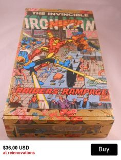 Marvel Iron Man Handmade Upcycled Cigar Box