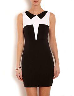 Robe bicolore effet bustier Morgan prix promo Boutique Morgan 70.00 € TTC