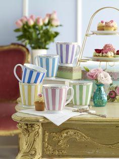 Noritake Carnivale range of mugs, high tea, cakes, Marie Antoinette, laudree macarons, cupcakes