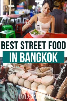 Discover the best food of Thailand on Bangkok street food markets, usually at night! Whether you want to 'just' eat Thai food or are interested in some serious food photography, you won't be disappointed with these Bangkok street food options. Street Food Market, Thai Street Food, Best Street Food, Eat Thai, Food Stall, India Food, International Recipes, Foodie Travel, The Best
