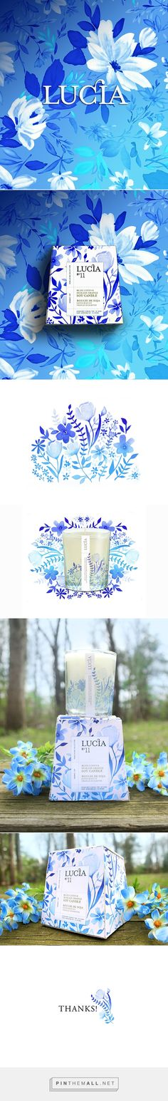 Lucia Candle Packaging on Behance by Haley Beres curated by Packaging Diva PD. Speaking of flowers how gorgeous is this packaging.