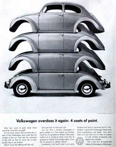 Great layout. | All The Great Mad Men Era Volkswagen Ads