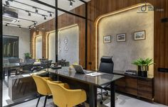 Share this on WhatsApp Office Design -An Amalgamation Of Raw And Modern Corporate Office Design, Office Interior Design, Office Interiors, Corporate Offices, Industrial Office Design, Showroom Design, Interior Office, Office Designs, Interior Designing