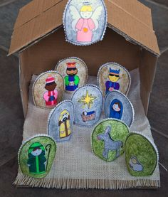 Easy DIY Nativity Set with FREE Printable | Prudent Baby