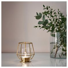 PÄRLBAND Tealight holder IKEA Use the tealight holder with a lit tealight or alone, as a beautiful object in its own right. Ikea Candles, Small Candles, Tea Light Candles, Tea Lights, Ikea Candle Holder, Small Candle Holders, Geometric Candle Holder, Tealight Candle Holders, Decorative Accessories