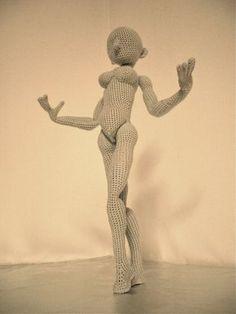 Amigurumi Female body crochet pattern by KnittingDollFactory