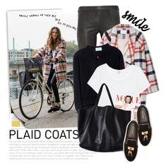 """2527. Pattern Mix: Plaid Coats"" by chocolatepumma ❤ liked on Polyvore featuring Isabel Marant, Ganni, Prada, Splendid, Balmain and River Cottage Gardens"
