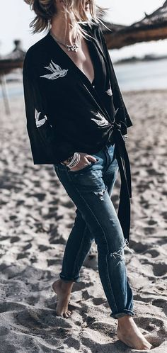 casual babe style on the beach
