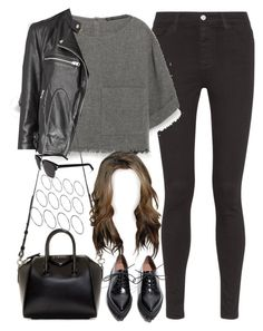 """""""Untitled#3709"""" by fashionnfacts ❤ liked on Polyvore featuring AG Adriano Goldschmied, Zara, AllSaints, Jeffrey Campbell, Givenchy, ASOS and Yves Saint Laurent"""