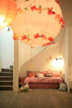 """Utilize the area under the stairs to create your personal """"cozy nook"""" in the house."""