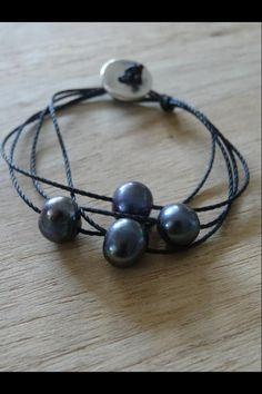 Tuto bracelet perle tahiti