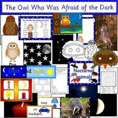 The Owl Who Was Afraid of the Dark book study- Light & Dark + Nocturnal animals – Artsupplies Afraid Of The Dark, Light In The Dark, Owl Outline, Owl Writing, Owl Activities, Animal Lamp, Owl Who, Dark Books, Baby Owls