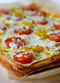 Vegetarian Phyllo Pizza