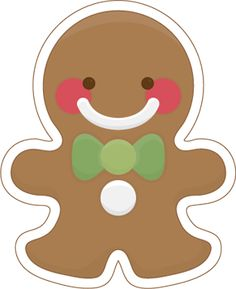 Add this cute gingerbread man to the front of a Christmas card or make a gift bag with him right in the center. Gingerbread Crafts, Christmas Gingerbread, Gingerbread Recipes, Gingerbread Houses, Gingerbread Cookies, All Things Christmas, Christmas Time, Xmas, Italian Christmas