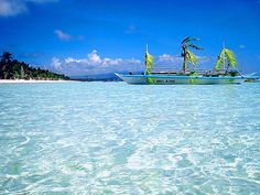 BORACAY, Philippines: tranquil turquoise ocean