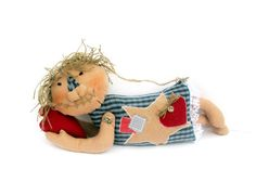 Home Decor Primitive Doll hand made doll Rag Doll by AnnaDesigner, $29.90