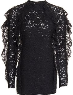 Lanvin Black Lace Top