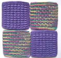 Soft Natural Dish Cloths Wash Cloths Lavendar by CozyKitchenKnits, $12.00