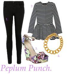 Peplum punch