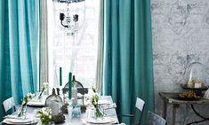 Türkise Vorhänge-frische Farbe im Raum - fresHouse