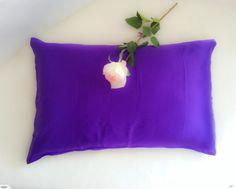 ELITE SILK:100% PURE Mulberry SILK 19mm pillowcase - Purple   Trade Me