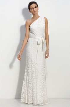 Nordstrom- One Shoulder Lace Gown