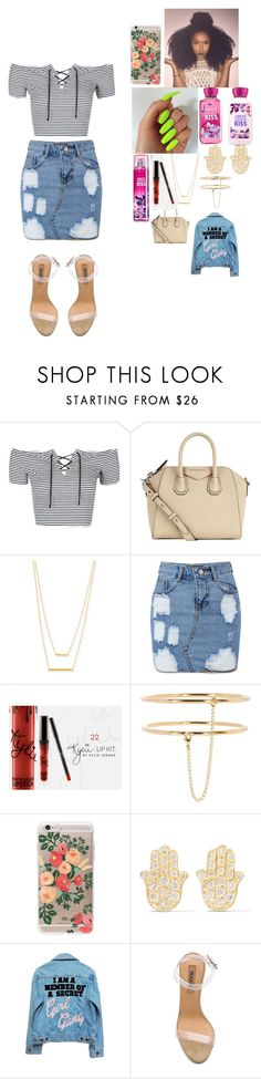 """~ candy ~"" by foodislyfe ❤ liked on Polyvore featuring Topshop, Givenchy, Jennifer Zeuner, STELLA McCARTNEY, Rifle Paper Co, Jennifer Meyer Jewelry, High Heels Suicide and adidas"