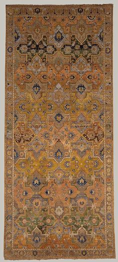 """Polonaise"" carpet, early 17th century; Safavid Iran Silk, gold and silver thread."