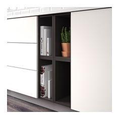 IKEA - TUTEMO, Rangement ouvert, anthracite, 40x37x40 cm, , Vous pouvez monter l'élément de rangement comme élément de finition sur le côté d'un élément bas ou mural, ou entre deux éléments pour obtenir un rangement ouvert pratique pour avoir les objets à portée de main.Garantie 10 ans gratuite. Détails des conditions disponibles en magasin ou sur internet.
