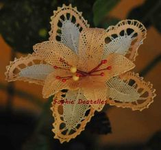 2016_06_30_54 Tattoo Dentelle, Bobbin Lace Patterns, Christmas Ornaments, Holiday Decor, Bouquets, Inspiration, Bobbin Lace, Apple Roses, Lace Flowers