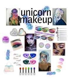 """Unicorn Makeup 🦄"" by americanreject ❤ liked on Polyvore featuring beauty, Betsey Johnson, In Your Dreams, Sunday Somewhere, Lime Crime, beautyblender, Monsoon and FCTRY"