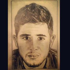 Sketch of Colton Pack of Restless Road. My Christmas Card to him 2013. Photo of reference by Nathan Kistler! #ColtonPack #RestlessRoad #RestlessRdMusic #NathanKistler #sketch Restless Road Fan Art RRFanArt Emily Greeson