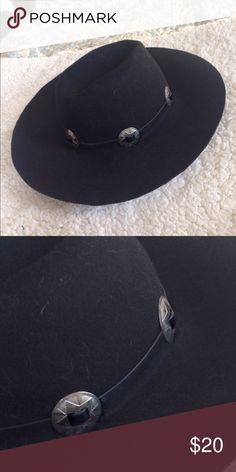 Black Hat Black Vintage Style Hat Other