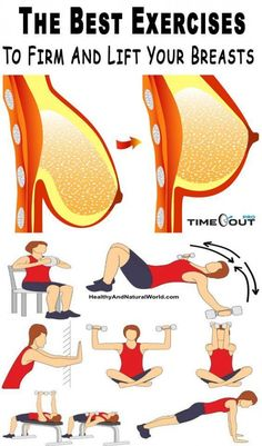The fosllowing exercises won't turn A cups into Bs or beyond. But they can help you to build up your upper body muscles and improve the appearance of your breasts without having a surgery. Reto Fitness, Sport Fitness, Body Fitness, Fitness Diet, Fitness Goals, Health Fitness, Health Club, Health Exercise, Exercise Motivation
