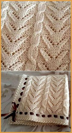 Very Pretty Knitting Blanket - Free Pattern - Very Pretty Knitting Blanket – Free Pattern Free Knitting Pattern Knitted Afghans, Knitted Baby Blankets, Baby Blanket Crochet, Crochet Baby, Lace Knitting, Knitting Patterns Free, Knit Patterns, Free Pattern, Beginner Knitting