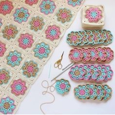 How to Crochet Flower, Make a Granny Square and Join Them 👕 Get your T-Shirt, Mug, Tote Bag, Case phone. and more perfect for your family members and friends by… Crochet Pattern - Check this out now! Benzer Çalışmalar No related posts. Motifs Granny Square, Crochet Motifs, Crochet Blocks, Granny Square Crochet Pattern, Crochet Squares, Crochet Blanket Patterns, Baby Blanket Crochet, Knitting Patterns, Granny Squares