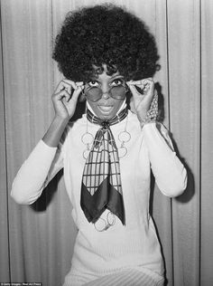 Diva: Singer Diana Ross at the headquarters of EMI Records in November 1968